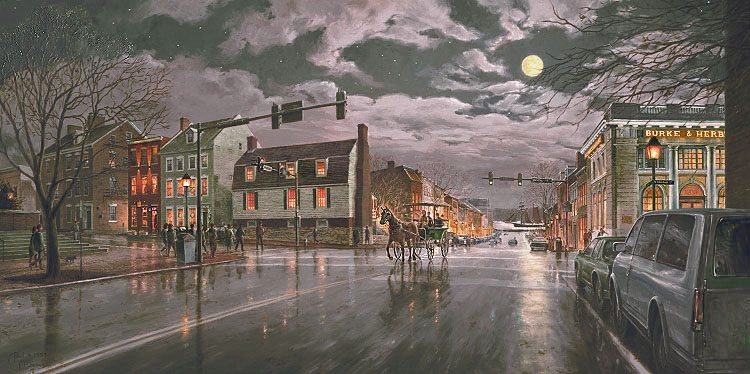 Old Town Alexandria by Moonlight